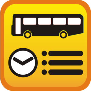 Bus with schedule